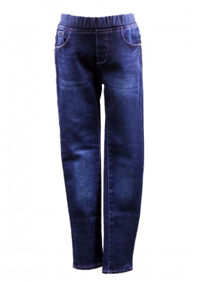 Утеплённые джинсы на резинке Deloras