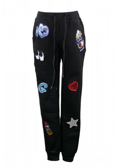 Трикотажные штаны с нашивками Vitacci 2161051