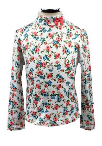 Водолазка в цветочек Deloras 17236