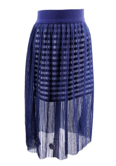 Прозрачная юбка плиссе Deloras 29301
