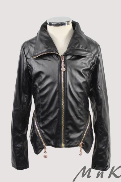 Стильная кожаная куртка 26104 Deloras