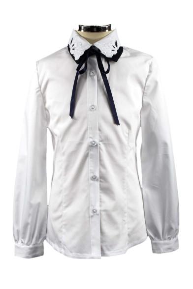 Блузка с двойным воротником Deloras 60976