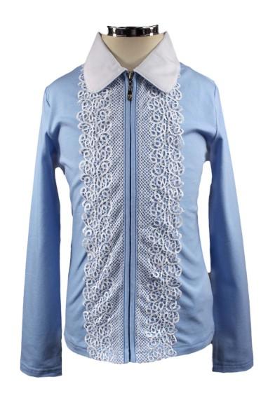 Блузка с красивым кружевом Deloras 60949