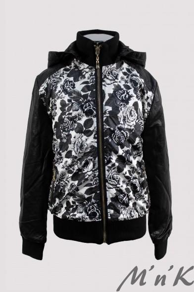 Оригинальная куртка с цветочным принтом - 1 Olimpia