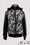 Оригинальная куртка с цветочным принтом - 1