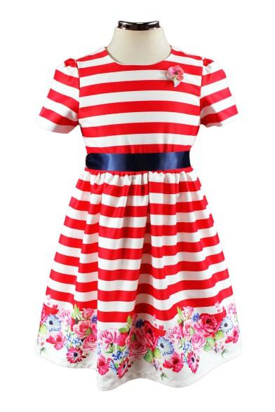 Платье в полоску - 1 Deloras 17471