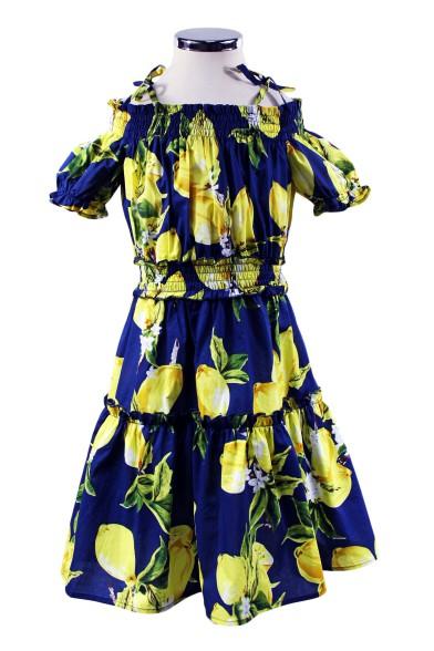 """Платье """"Лимонное настроение"""" Deloras 29346"""