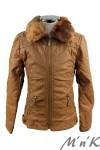 Утепленная кожаная куртка - 1