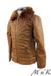 Утепленная кожаная куртка - 3