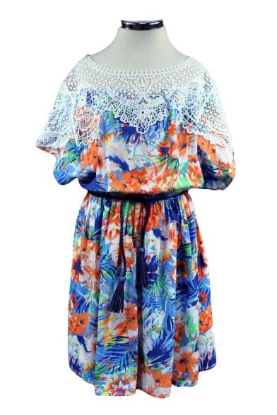 Платье с кружевом Deloras 29363G