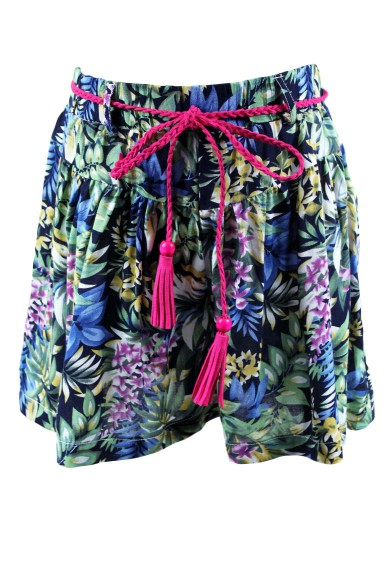 Юбка-шорты с плетеным поясом Deloras 17510JF