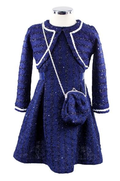 Нарядный комплект (платье+болеро+сумка) - 1 Deloras