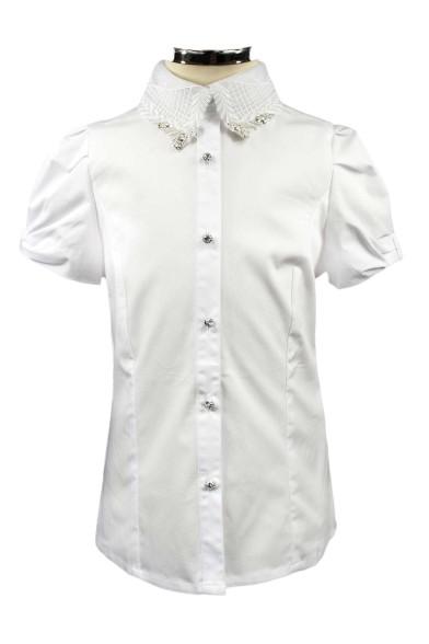 Блузка с красивым воротником Deloras 60851S
