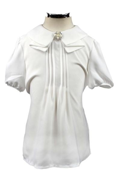 Блузка с оригинальным воротником Deloras 61047S