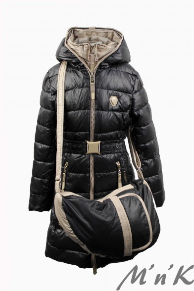 Оригинальное зимнее пальто с сумкой 14156 Vitacci