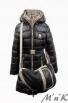 Оригинальное зимнее пальто с сумкой 14156