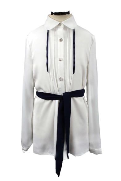 Блузка с поясом + ремень Deloras 61007
