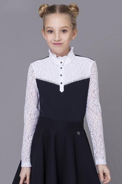 Комбинированная блузка Deloras 61288