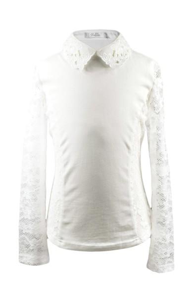 Блузка с вышитым воротником Deloras 61358