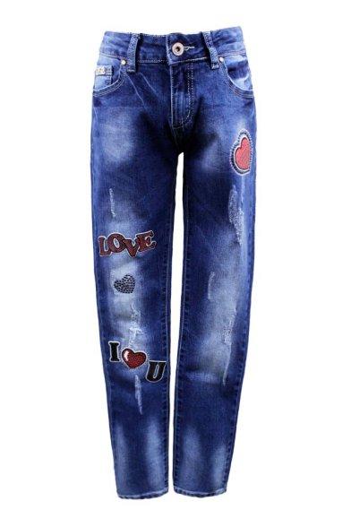 Модные джинсы с нашивками - 1 Deloras 29145