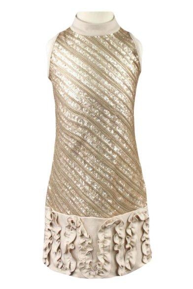 Очаровательное облегающее платье, декорированное пайетками Deloras