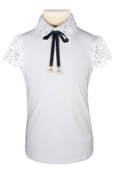Блузка с крцжевом Deloras