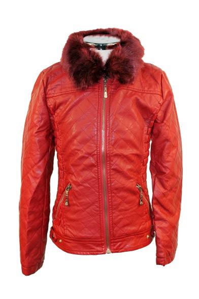 Утепленная кожаная куртка - 4 Olimpia