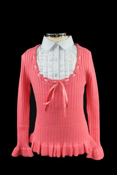 Обманка из тонкого вязаного трикотажа - 4 Deloras 1793
