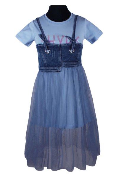 Комплект (платье+сарафан) Deloras