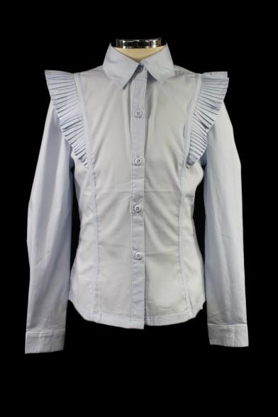 Белая приталенная блузка 1887 Deloras
