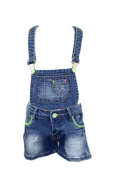 Ультрамодный джинсовый комбинезон