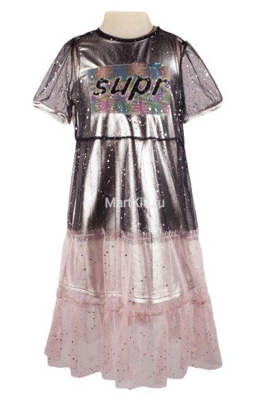 Платье с накидкой - 1 Deloras