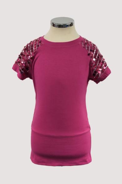 Удлинённая нарядная футболка Deloras