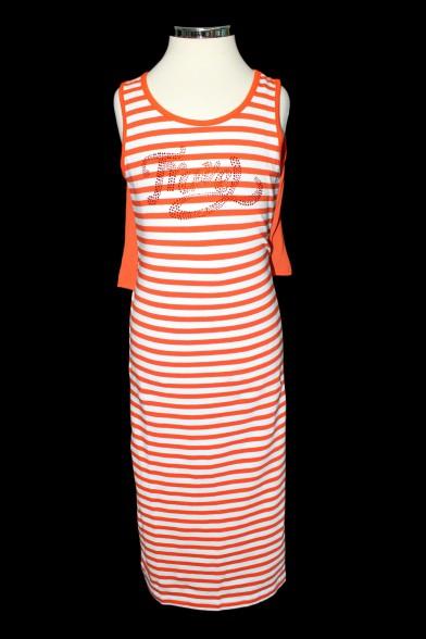 Трикотажное платье с шифоновой вставкой Deloras