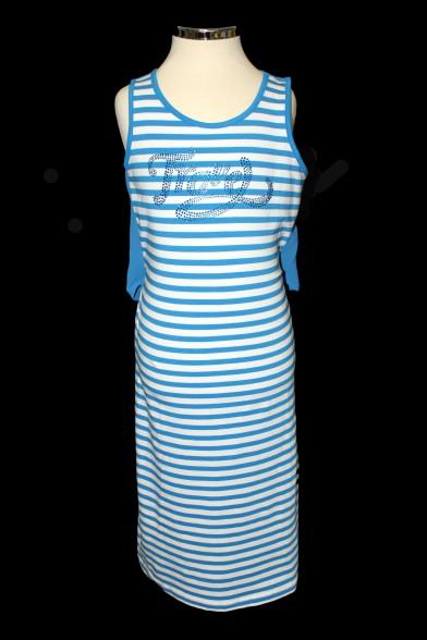 Трикотажное платье с шифоновой вставкой - 1 Deloras 26366