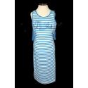 Трикотажное платье с шифоновой вставкой