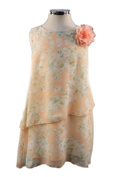 Шифоновое платье свободного кроя Vitacci