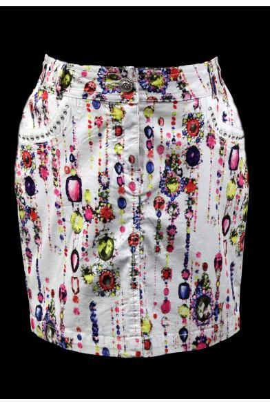 Летняя юбка-карандаш оригинальной расцветки Deloras