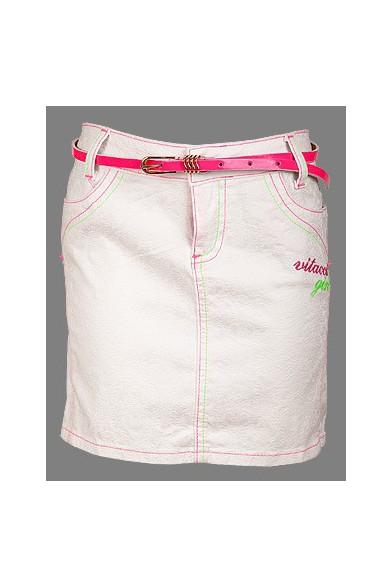 Яркая однотонная юбка Vitacci