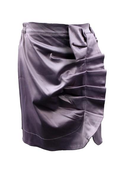 Атласная юбка с драпировкой