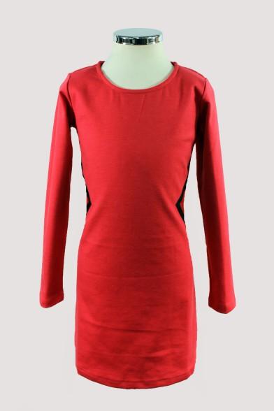 Стильное платье с кожаными вставками Vitacci
