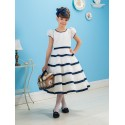 Классическое контрастное платье