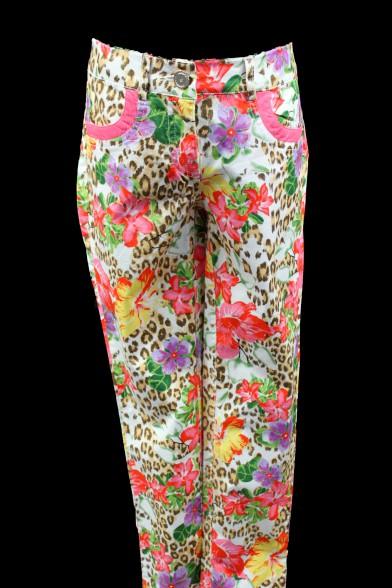 Летние цветастые брюки Deloras 27242