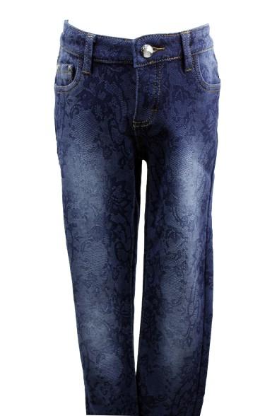 Утепленные джинсы из принтованой ткани Vitacci