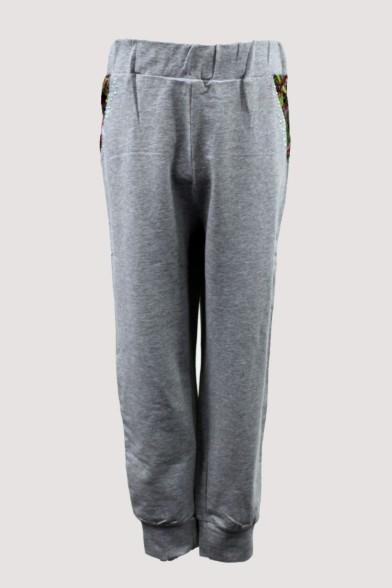 Трикотажные брюки с шелковой вставкой Deloras 26116