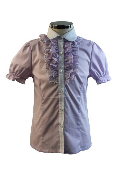 Блузка, декорированная жабо 60715S Deloras