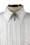 Блузка, декорированная кружевом - 8
