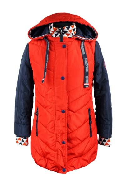 Комбинированное демисезонное пальто PurosPoro