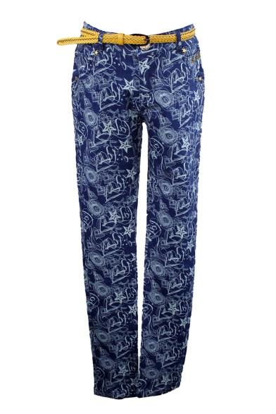 Принтованные джинсы 15-1045 Olimpia 15-1045