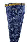 Принтованные джинсы 15-1045